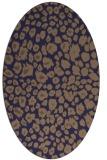 rug #630645 | oval beige circles rug
