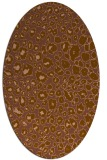 rug #630681 | oval brown circles rug