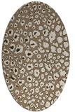 rug #630689 | oval beige popular rug