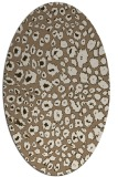 rug #630689 | oval beige circles rug