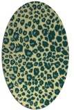 rug #630741 | oval yellow circles rug