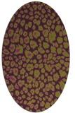 rug #630765 | oval green circles rug