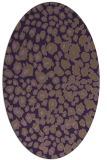 rug #630769 | oval purple animal rug