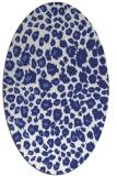rug #630817 | oval blue animal rug
