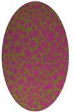 rug #630865 | oval pink animal rug
