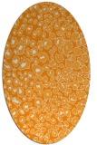 rug #630881 | oval light-orange animal rug