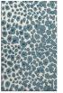 rug #630913 |  blue-green circles rug