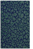 rug #630921 |  blue circles rug