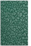 rug #630945    blue-green animal rug