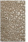 rug #631041 |  mid-brown circles rug