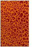 rug #631077 |  orange circles rug