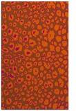 rug #631153 |  red-orange circles rug