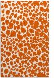 rug #631157 |  red-orange circles rug