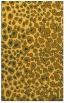 rug #631193 |  light-orange animal rug