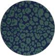 rug #631273 | round blue animal rug