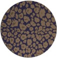 rug #631349 | round beige animal rug
