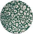 rug #631373 | round green circles rug