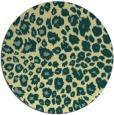 rug #631445 | round yellow circles rug