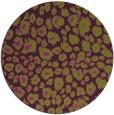 rug #631469 | round purple animal rug
