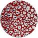 rug #631481 | round red circles rug