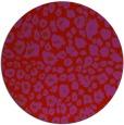 rug #631493 | round red circles rug