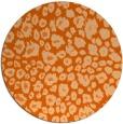 rug #631501 | round red-orange circles rug
