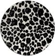 rug #631513 | round white animal rug