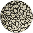 rug #631549 | round black rug