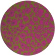 rug #631569 | round light-green circles rug