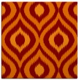 rug #632133 | square orange animal rug