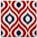 rug #632185 | square red popular rug