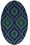 rug #632329 | oval blue animal rug