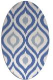 rug #632337 | oval blue animal rug