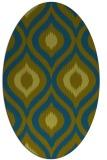 rug #632357 | oval green animal rug