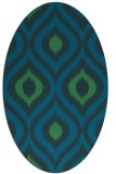 rug #632377 | oval blue animal rug