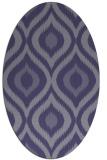 rug #632385   oval blue-violet animal rug