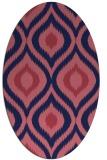 rug #632389 | oval pink animal rug