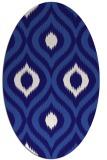 rug #632401   oval blue-violet animal rug