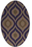 rug #632405 | oval blue-violet animal rug