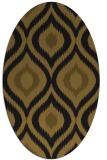 rug #632413 | oval mid-brown natural rug