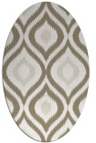 rug #632437 | oval white natural rug