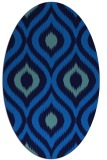 rug #632465 | oval blue animal rug