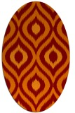 rug #632485 | oval red-orange animal rug