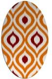 rug #632489 | oval orange natural rug