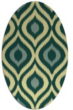rug #632501 | oval yellow natural rug