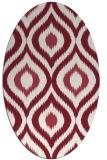 rug #632509 | oval pink animal rug