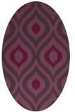 rug #632521 | oval purple animal rug