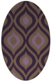 rug #632529 | oval purple natural rug
