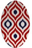 rug #632537 | oval red natural rug