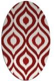 rug #632547   oval animal rug